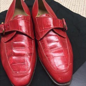 Davanzati Shoes - Davanzati genuine gator leather men's loafers